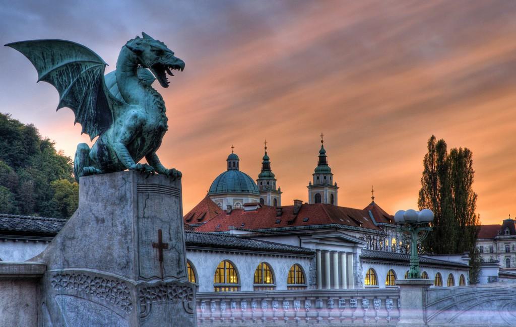 Image result for dragon bridge ljubljana