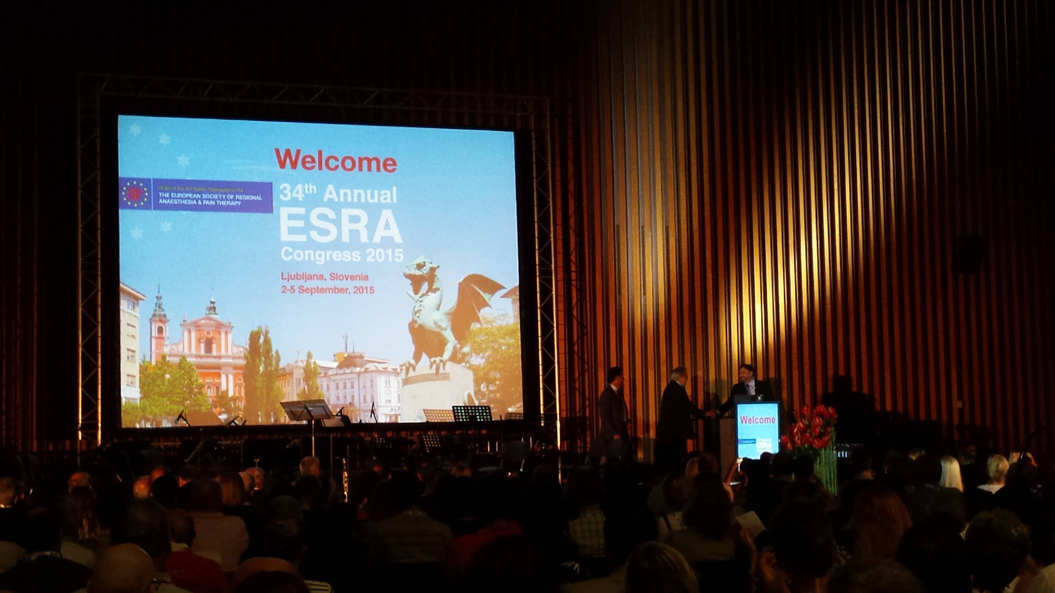 ESRA 2015 opening, GR Ljubljana Exhibition and Convention Centre